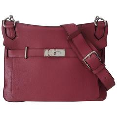Hermes Jypsiere 2 ways Bag Tosca Pink Clemence Leather PHW 34 cm