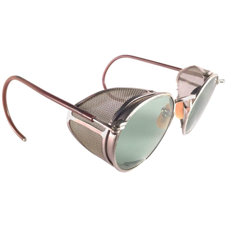 Mint Vintage Bausch & Lomb Goggles Steampunk 1950's Collectors Item Sunglasses For Sale