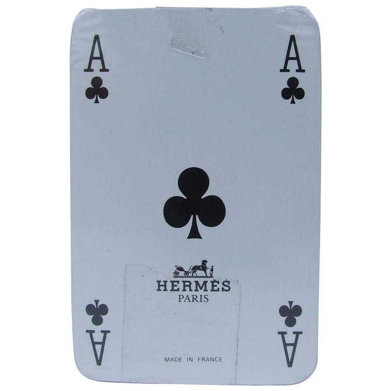 Hermes Mini Cards Game Puzzle Pattern New