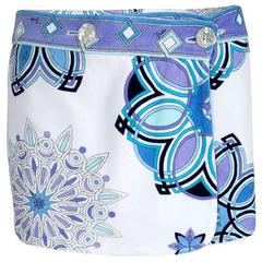 Emilio Pucci Siganture Print Terry Cloth Wrap Skirt