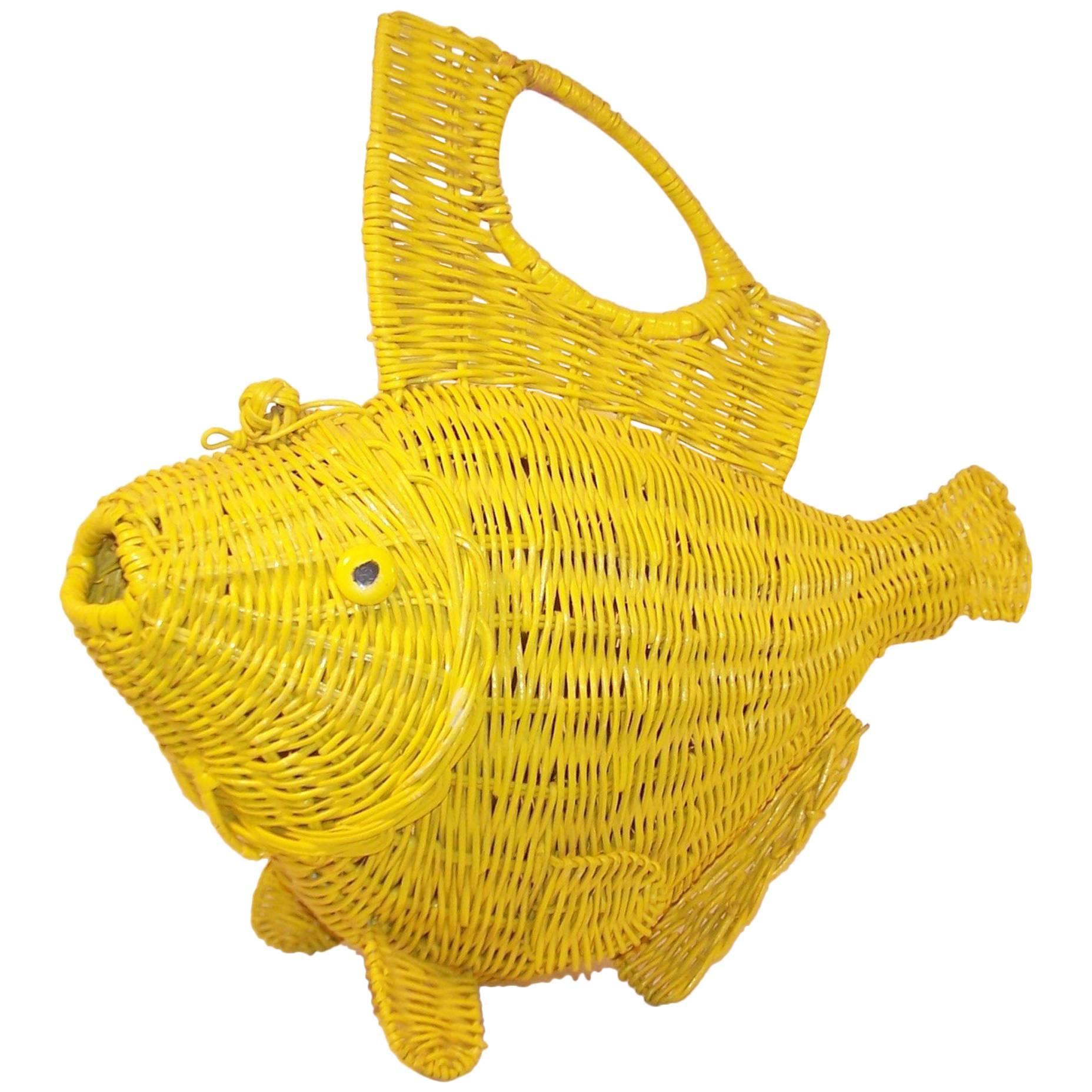 Enchanting Wicker Fish Wall Decor Motif - Wall Art Ideas - dochista.info