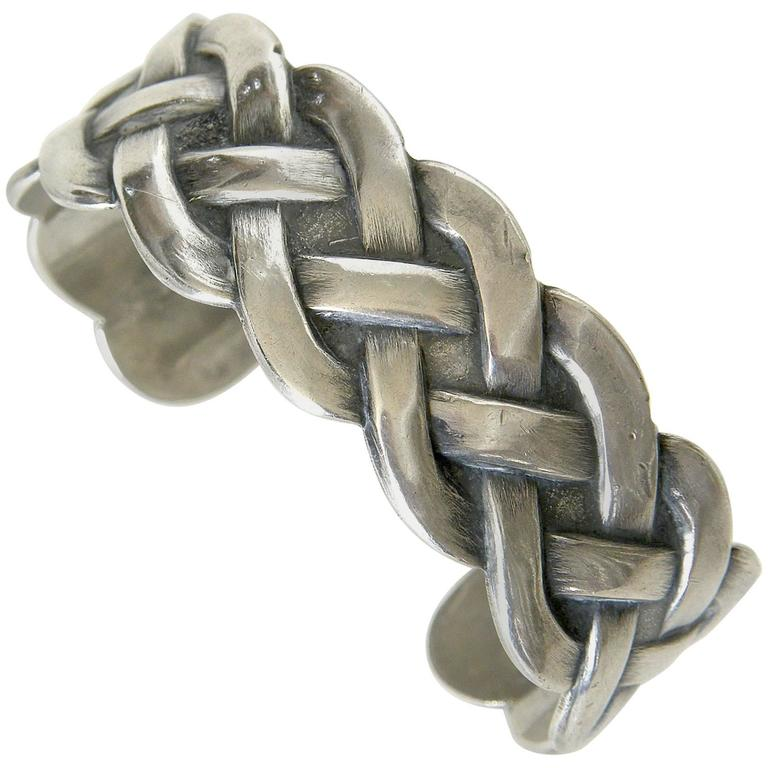 Sterling Bracelet with Woven Design 1