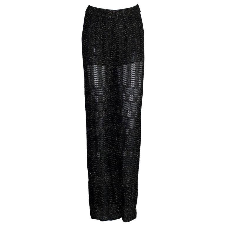 Missoni Crochet Knit Lurex Palazzo Pants 1