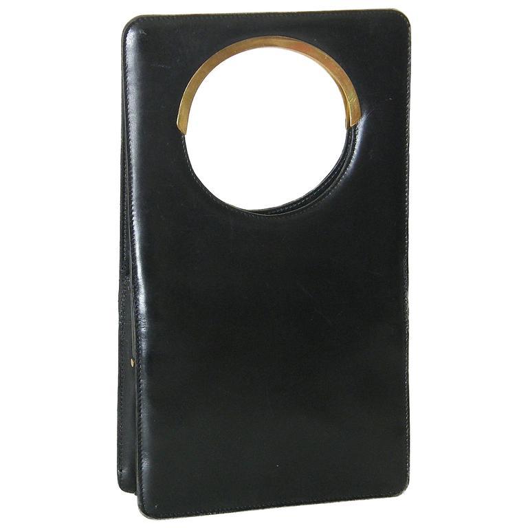 Pierre Cardin Black Leather Handbag 1