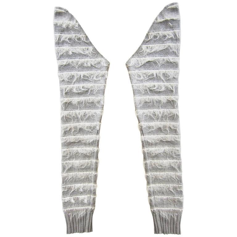 Martin Margiela Grey Knit Mohair Sleeves