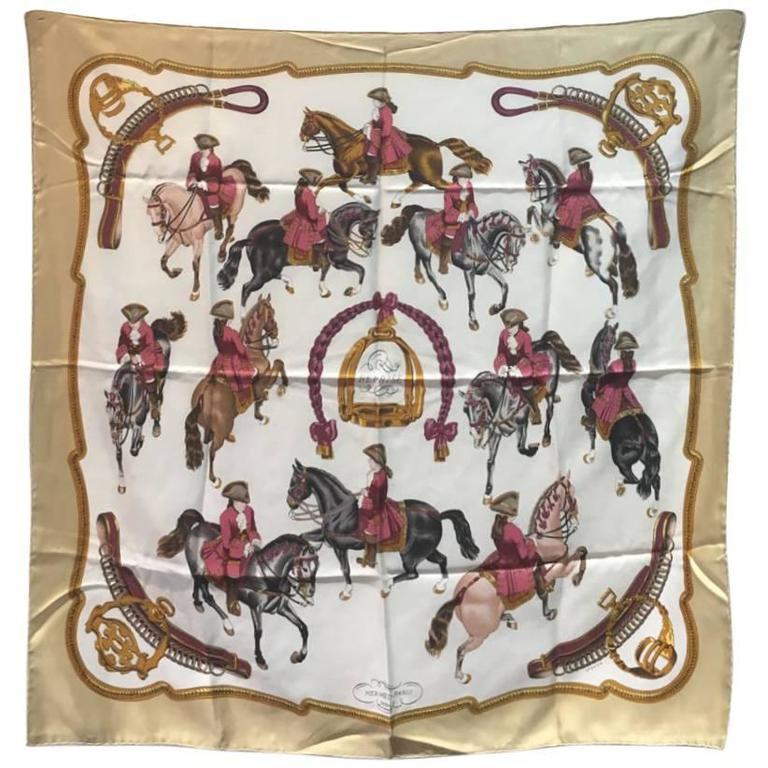 Hermes Vintage Reprise Silk Scarf, circa 1970s