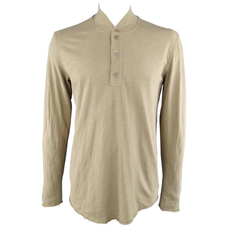 MAISON MARTIN MARGIELA Khaki Heather Military Long Sleeve REPLICA Pullover 1