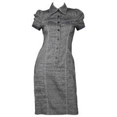 Versace V2 Linen Short Sleeve Polo Dress