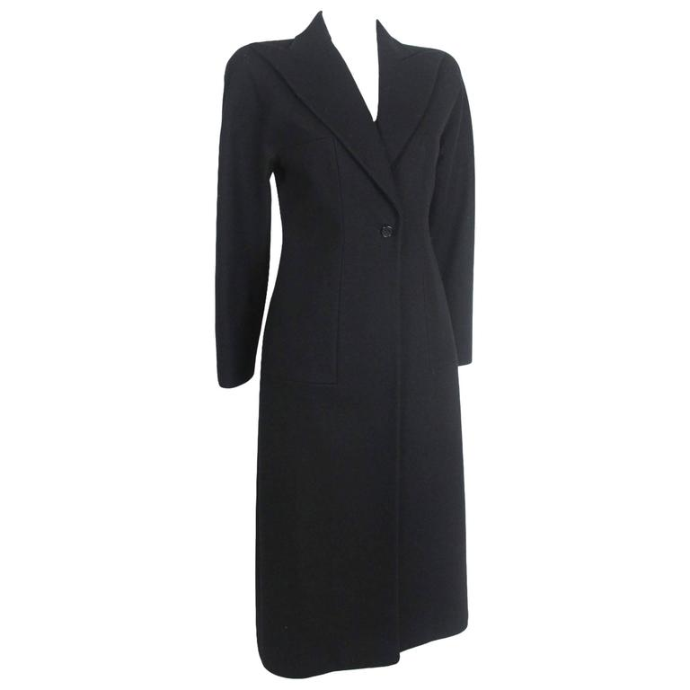 Alexander McQueen 1990's Tailored Runway Wool Coat