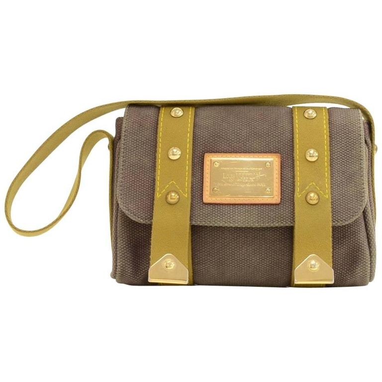Louis Vuitton Sac Rabat Chocolate Brown Antigua Canvas Handbag
