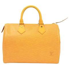 Vintage Louis Vuitton Speedy 25 Yellow Epi Leather City Hand Bag