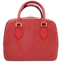 1990s Louis Vuitton Epi Alma Pm Castilian Red Handbag At