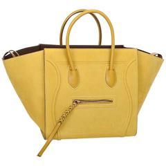 Céline Phantom Nubuck Chartreuse Model Bag in Green Anise Calf Leather