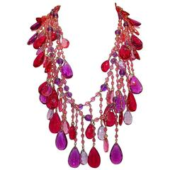Carlo Zini Milano Multicolored Long Necklace