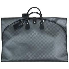 "Louis Vuitton Black Leather Carbon Fiber Damier ""Garment i8 Bag"""