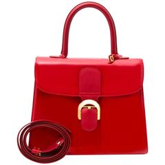 Delvaux Red Brillant Patent MM Bag