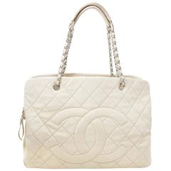 Chanel Beige Leather Grand Shopping Tote