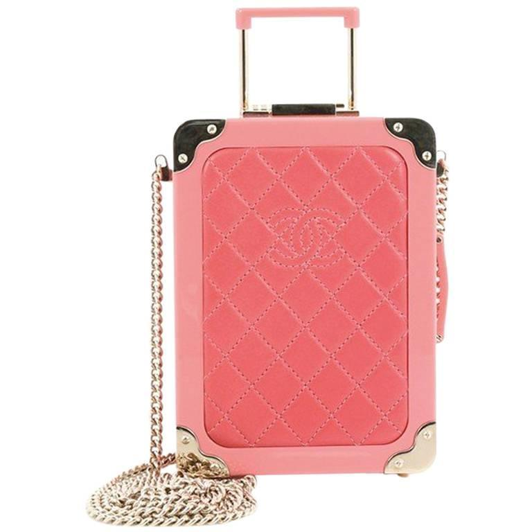 Chanel Trolley Minaudiere Plexiglass and Quilted Lambskin For Sale