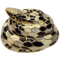 Judith Leiber Snake Minaudiere Crystal Clutch