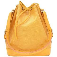 Louis Vuitton Noe Large Yellow Epi Leather Shoulder Bag