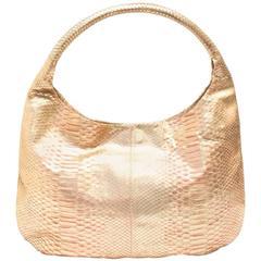 Devi Kroell Gold Python Shoulder Bag