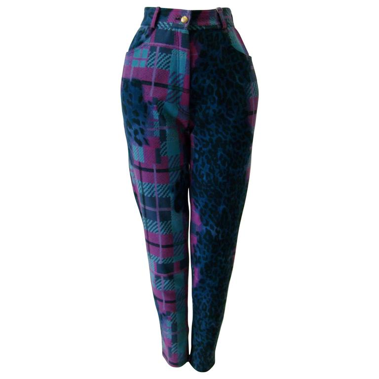 Gianni Versace Sport Printed Jeans For Sale