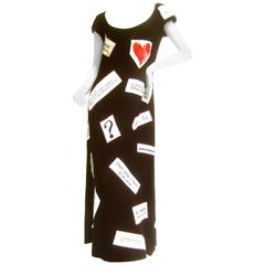 Resist! Moschino Couture Political Themed Dress. US Size 10