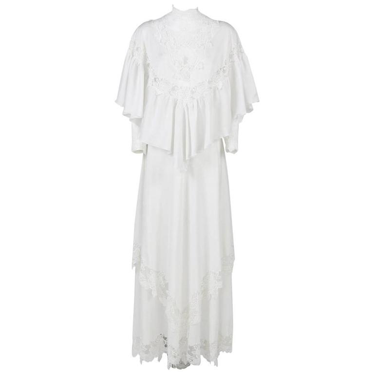 1970s made in italy white wedding dress for sale at 1stdibs for Denim wedding dresses for sale