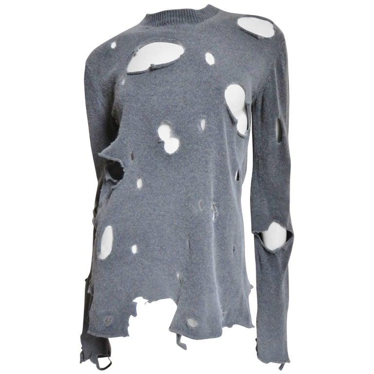 Comme des Garcons Vintage Distressed Sweater 1