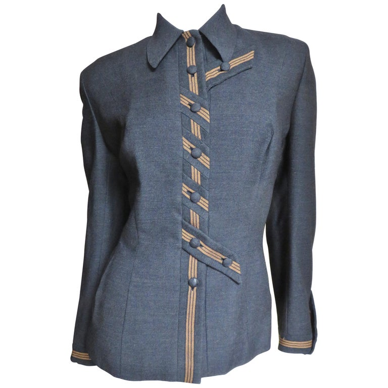 1940's Sally Milgrim Jacket with Tabs For Sale