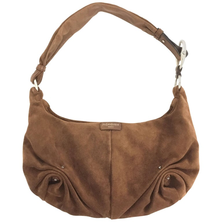2004 Yves Saint Laurent Mamounia Brown Lambskin Shoulder Bag