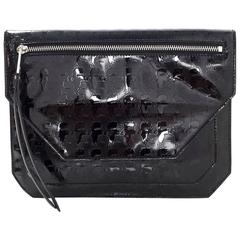 Karl Lagerfeld Black Patent Clutch Bag