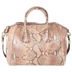 GIVENCHY Beige Python Antigona Bag