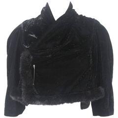 Comme des Garcons 1999 Collection Glittery Velvet Bolero Jacket