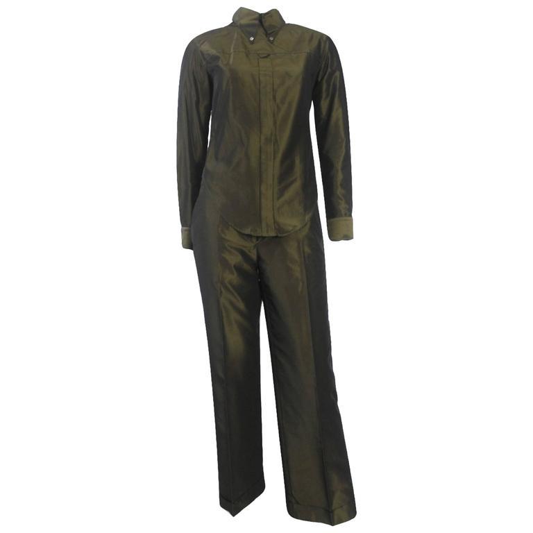 Alexander McQueen 1990's Unique 'Back to Front' Two Tone Shirt Suit