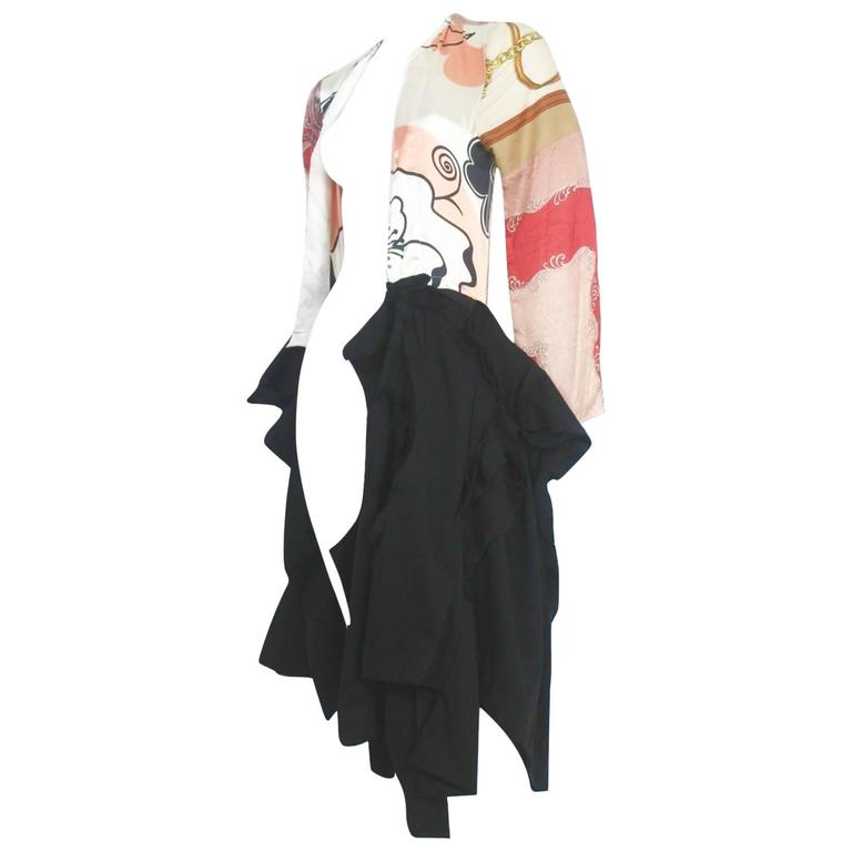 Comme des Garcons 2011 Collection Vintage Scarf Backless Coat