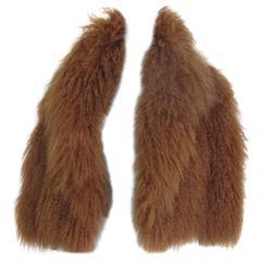 short mongolian lamb fur jacket