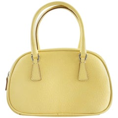 Prada Yellow Leather Mini Bag