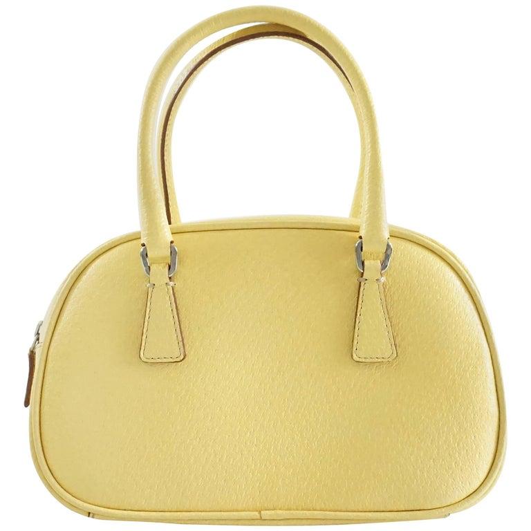 Prada Yellow Leather Mini Bag  1