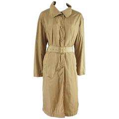 Prada Tan Trench and Rain Coat - 42