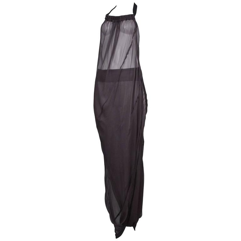 Comme des Garcons Sheer Convertible Dress