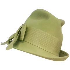 1960s Lime Green Women's Fedora
