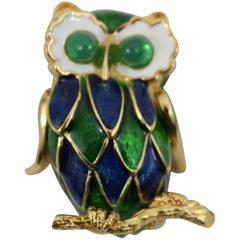 Vintage Carven super cute Owl Brooch