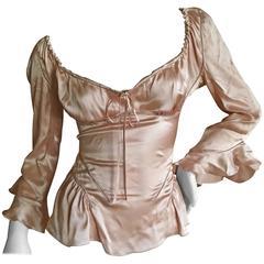 Alexander McQueen Fall 2002 Supercalifrgilistic Collection Milkmaid Silk Top