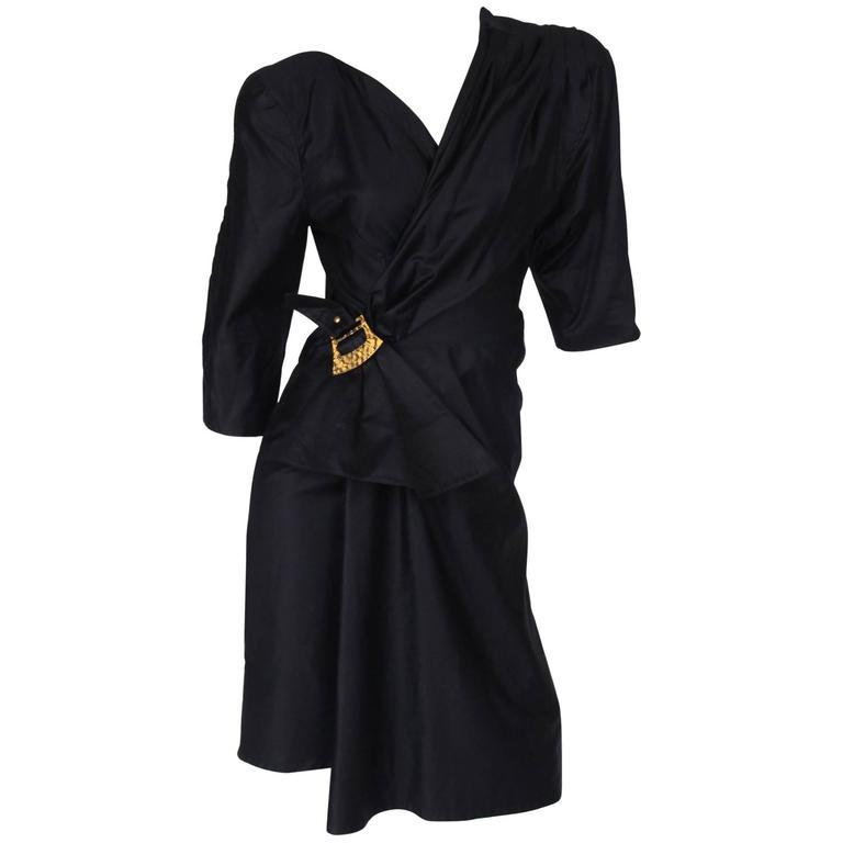 Thierry Mugler Wrap Dress - black