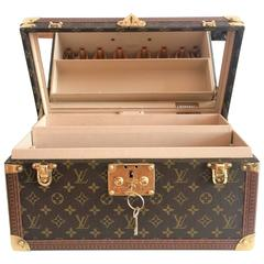 LOUIS VUITTON Beauty Case BOITE BOUTEILLE & GLACE, with mirror, LV monogram