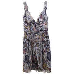 John Galliano for Dior Summer Silk dress. Size 8. EU 40