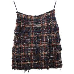 Chanel Multicolor Tweed skirt. Size French 38