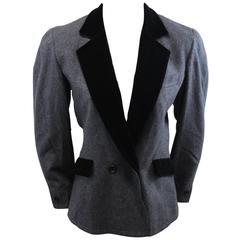 Guy Laroche Vintage Woool and Velvet jacket