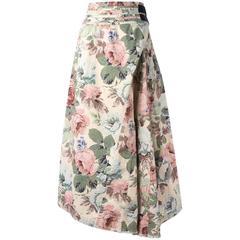Comme Des Garçons Junya Watanabe Multicoloured Floral Skirt
